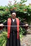 Senior Kuban Cossack holding a saber Stock Photography