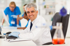 Senior lab technician Royalty Free Stock Image