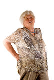 Senior lady with back pain Royalty Free Stock Images