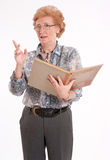 Senior lady with book Royalty Free Stock Photography