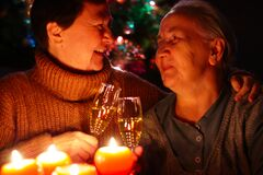 Senior Lady Celebrating New Year