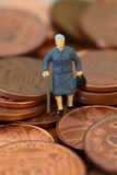 Senior lady coins A Royalty Free Stock Photos
