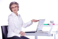 Senior lady on computer Royalty Free Stock Image