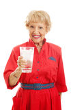 Senior Lady Drinks Water Royalty Free Stock Photo