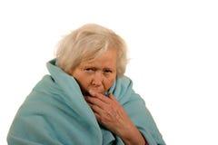 Senior Lady with Flu Stock Photos