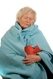 Senior Lady with Flu Royalty Free Stock Image
