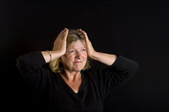Senior Lady - Frustration Royalty Free Stock Image