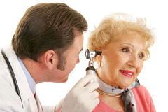 Senior Lady Gets Checkup Stock Photography