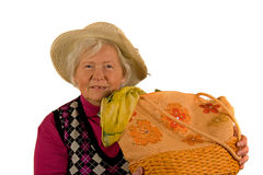 Senior Lady with Hat Royalty Free Stock Photo