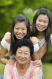 Senior lady and her daughters Royalty Free Stock Photos