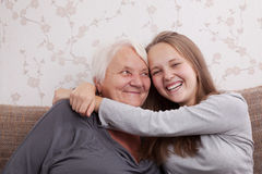 Senior lady and her granddaughter Royalty Free Stock Photography