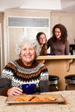 Senior lady at home royalty free stock photography