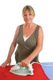 Senior Lady Ironing Royalty Free Stock Photo