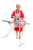Senior Lady Ironing - Full Body Royalty Free Stock Photography