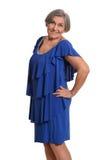 Senior lady isolated Royalty Free Stock Images
