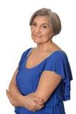 Senior lady isolated Stock Image