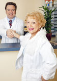 Senior Lady Meets her Doctor Stock Images