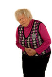 Senior Lady with Pain Stock Image