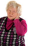 Senior Lady with Pain Royalty Free Stock Photography