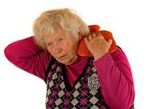 Senior Lady with Pain Stock Photo