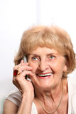 Senior lady on the phone Stock Images