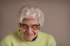 Senior lady portrait. Stock Image