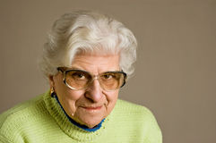 Senior lady portrait Royalty Free Stock Photo
