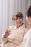 Senior lady with positive attitude Stock Photo