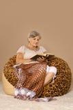 Senior lady reading Stock Photos