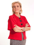 Senior Lady in red Royalty Free Stock Photography