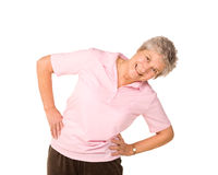 Senior lady stretching before exercise Royalty Free Stock Photo