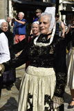 Senior Lady in Traditional Breton Costume, Quimper, Brittany, Northwest France Stock Photos
