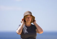 Senior Lady on Vacation Royalty Free Stock Image