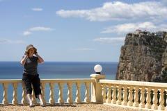 Senior Lady on Vacation Stock Image