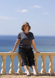 Senior Lady on Vacation Royalty Free Stock Photos