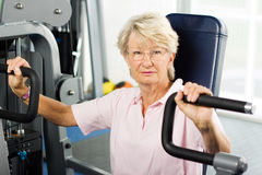 Senior lady working out Royalty Free Stock Photography