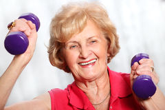 Senior lady working out Royalty Free Stock Image