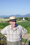 Senior in landscape of Turiec, Slovakia Stock Photography