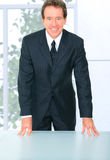 Senior Leader Business Standing By Meeting Table Royalty Free Stock Photography