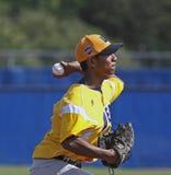 Senior league baseball world series 2011 pitcher. Quintin Torres-Costa of US West (Hilo, Hawaii) pitches in the 2011 Senior League Baseball World Series Stock Photo