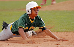 Senior league baseball world series aruba slide Royalty Free Stock Photos