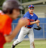 Senior league baseball world series canada throw Royalty Free Stock Image