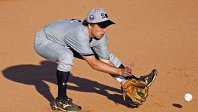 Senior league baseball world series grounder Stock Photography
