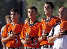 Senior league baseball world series italy anthem Royalty Free Stock Photo
