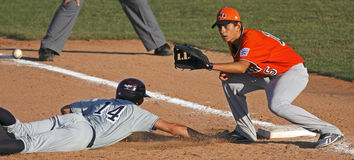 Senior league baseball world series italy pickoff Stock Images