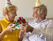 Senior Life Celebration Birthday Present Stock Photos