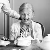 Senior Life Celebration Cake Birthday Stock Photos