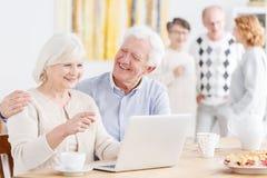 Senior life insurance concept stock photos