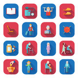 Senior Lifestyle Flat Icons Stock Photos