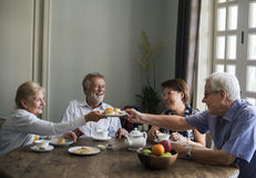 Senior Lifestyle Tea Break Togetherness Royalty Free Stock Photography